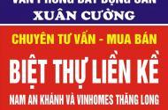 Bán biệt thự,Nam An Khánh,Hoài Đức,Hà Nội.Diện tích 275m-600m2 giá 19tr/1m2