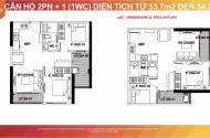 Bán  căn 2PN + 1wc. dự án Vinhomes Smart City - Tây Mỗ - Nam Từ Liêm. Hà  Nội Diện tích  59m2